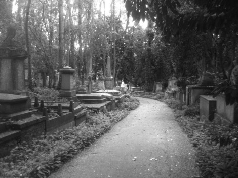Highgate Cemetery Path