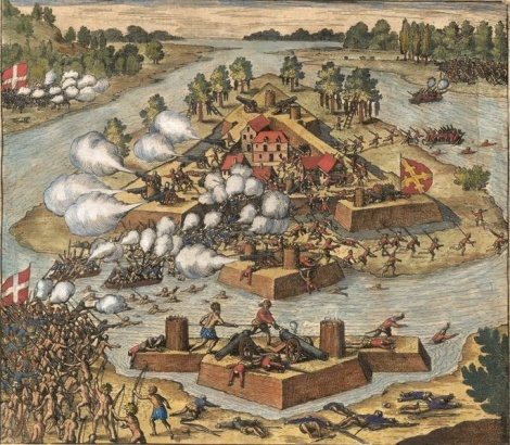 Spanish attack on French Fort Caroline, 1565